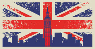 Bandeira de Grâ Bretanha ilustração stock