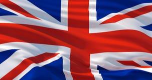 Bandeira de Grâ Bretanha na seda, ilustração 3d ilustração royalty free