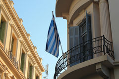 A bandeira de Grécia Fotografia de Stock