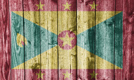 Bandeira de Granada na madeira resistida Fotos de Stock