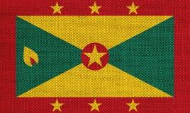 Bandeira de Granada no linho velho Fotos de Stock