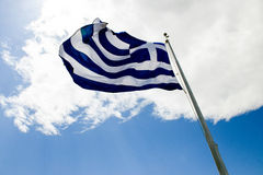 Bandeira de Greece Imagem de Stock Royalty Free