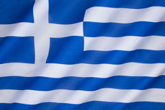 Bandeira de Greece fotos de stock royalty free