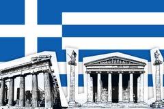 Bandeira de Greece Foto de Stock Royalty Free