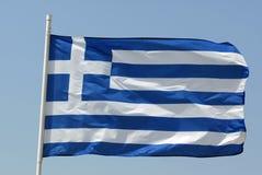 Bandeira de Greece fotografia de stock royalty free