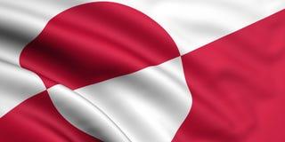 Bandeira de Greenland Fotos de Stock