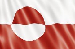 Bandeira de Greenland Foto de Stock Royalty Free