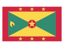 Bandeira de Grenada ilustração do vetor
