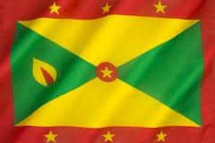 Bandeira de Grenada Fotografia de Stock