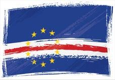 Bandeira de Grunge Cabo Verde Imagem de Stock Royalty Free
