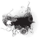 Bandeira de Grunge com gotas da tinta Foto de Stock