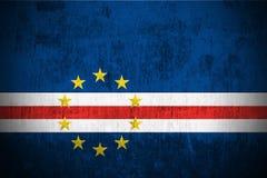 Bandeira de Grunge de Cabo Verde Fotos de Stock Royalty Free