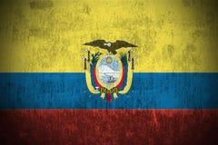 Bandeira de Grunge de Equador ilustração stock