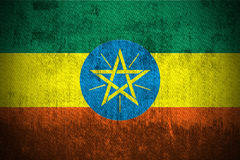 Bandeira de Grunge de Etiópia Fotos de Stock