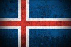 Bandeira de Grunge de Islândia ilustração royalty free
