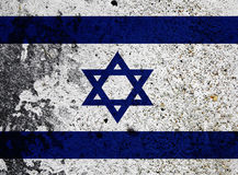 Bandeira de Grunge de Israel Foto de Stock