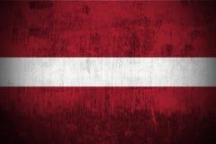 Bandeira de Grunge de Latvia ilustração stock