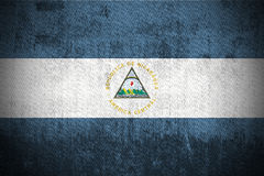 Bandeira de Grunge de Nicarágua Foto de Stock