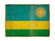 Bandeira de Grunge de Rwanda Foto de Stock