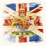 Bandeira de Grunge de Grâ Bretanha fotografia de stock royalty free