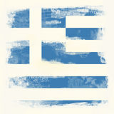 Bandeira de Grunge de Greece foto de stock royalty free