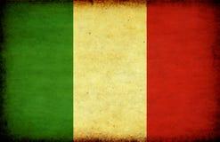 Bandeira de Grunge Italy ilustração do vetor