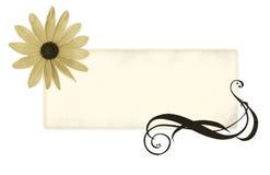 Bandeira de Grunge para seu texto ilustração stock