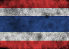 Bandeira de Grunge Tailândia Fotografia de Stock Royalty Free