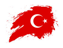 Bandeira de Grunge Turquia Foto de Stock Royalty Free