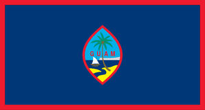 Bandeira de Guam Imagens de Stock Royalty Free