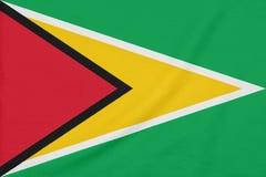 Bandeira de Guiana em tela textured S?mbolo patri?tico imagem de stock royalty free