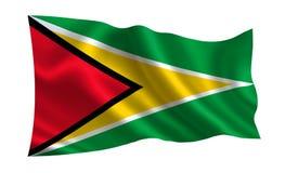 Bandeira de Guiana Uma série de bandeiras do ` do mundo ` O país - bandeira de Guiana Imagens de Stock