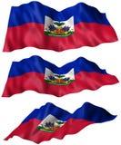 Bandeira de Haiti Fotografia de Stock
