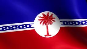 Bandeira de Haiti que acena no vento Dar laços sem emenda 3d gerado ilustração stock