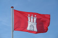 Bandeira de Hamburgo Foto de Stock Royalty Free