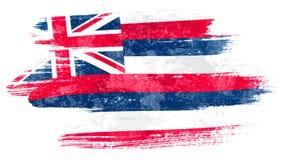 Bandeira de Havaí ilustração royalty free