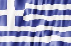 Bandeira de Hellenic Republic, Greece Imagens de Stock