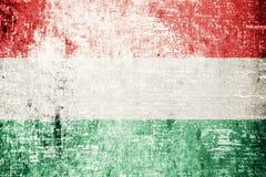 Bandeira de Hungria Fotografia de Stock Royalty Free