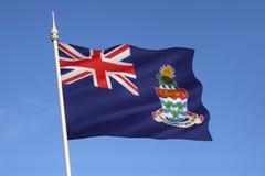 Bandeira de Ilhas Caimão - as Caraíbas Fotografia de Stock Royalty Free