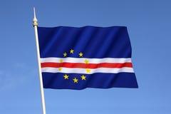 Bandeira de ilhas de Cabo Verde - república de Cabo Verde Fotos de Stock