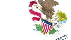 Bandeira de Illinois ilustração stock