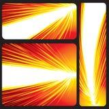Bandeira de incandescência vermelha Fotos de Stock