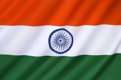 Bandeira de India Fotografia de Stock