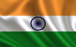 Bandeira de India Uma série de bandeiras do ` do mundo ` O país - bandeira da Índia ilustração stock