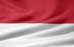 Bandeira de Indonésia Fotografia de Stock Royalty Free
