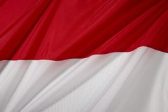 Bandeira de Indonésia imagem de stock royalty free
