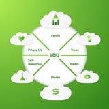 Bandeira de Infographic Imagem de Stock