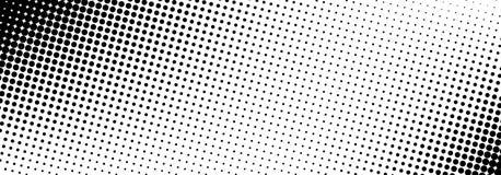 Bandeira de intervalo mínimo pontilhada preto e branco Foto de Stock Royalty Free