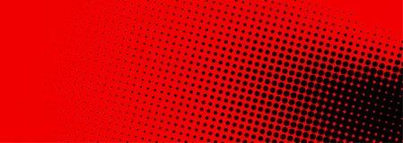 Bandeira de intervalo mínimo preta e vermelho pontilhada Fotografia de Stock Royalty Free