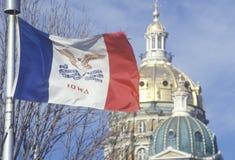 Bandeira de Iowa Fotos de Stock Royalty Free